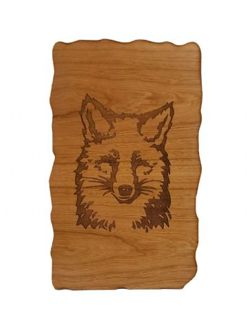 Fox - Engraved Wooden Wall Plaque - Choice of Wood Type